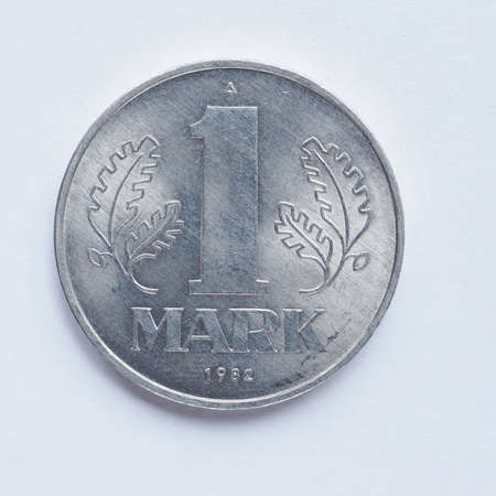 democratic: Vintage DDR (German Democratic Republic) 1 mark coin