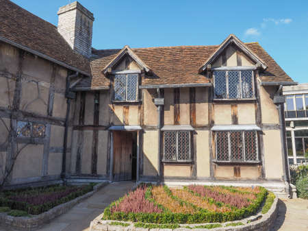 william: STRATFORD UPON AVON, UK - SEPTEMBER 26, 2015: William Shakespeare birthplace