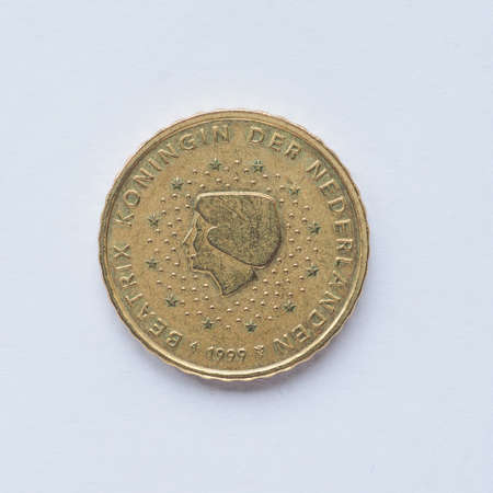 nederland: Currency of Europe 10 cent coin from Netherlands