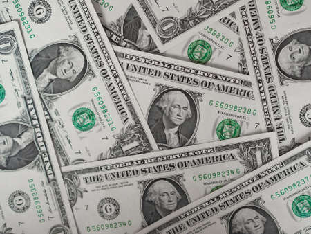dollar: Dollar banknotes 1 Dollar currency of the United States useful as a background