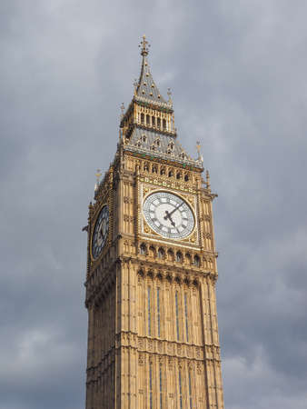 ben: Big Ben at the Houses of Parliament aka Westminster Palace in London, UK Stock Photo