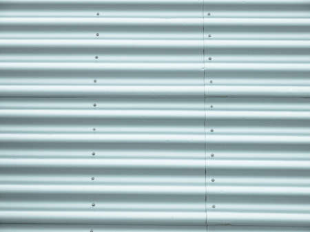 corrugated steel: Corrugated steel plate useful as a background - cool cold tone
