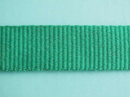 jib: Ribbon of green fabric detail