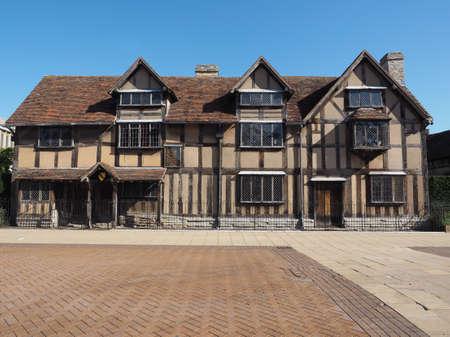william shakespeare: William Shakespeare birthplace in Stratford Upon Avon, UK