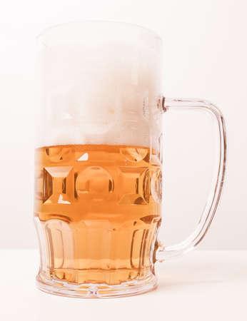 pilsner glass: Vintage looking A large glass of German lager beer