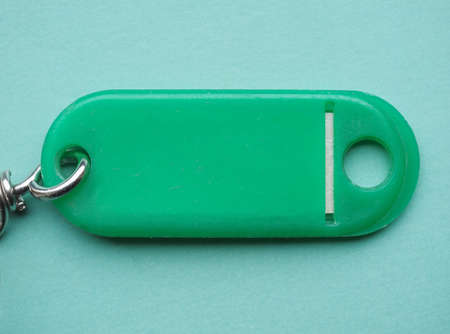 key ring: Green key ring with copy space Stock Photo
