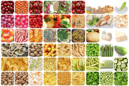 pasta: Conjunto de comida vegetariana incluyendo verduras frutas de pasta de curry patatas fritas de queso aperitivos
