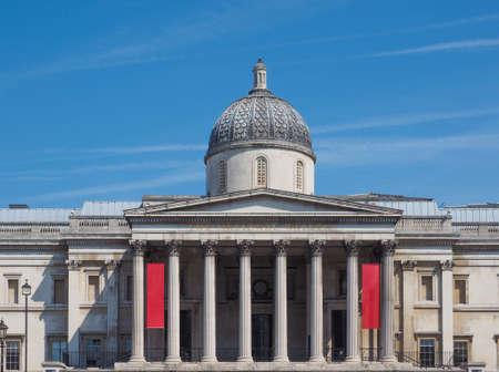 trafalgar: The National Gallery in Trafalgar Square in London, UK