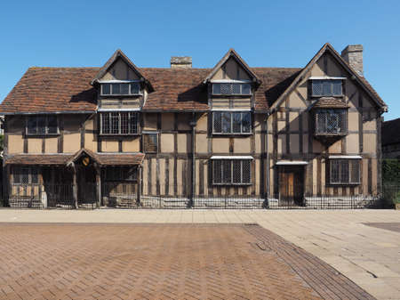home birth: William Shakespeare birthplace in Stratford Upon Avon, UK