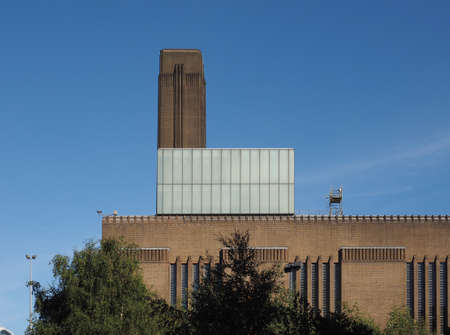 powerstation: Tate Modern art gallery in South Bank power station in London, UK Stock Photo