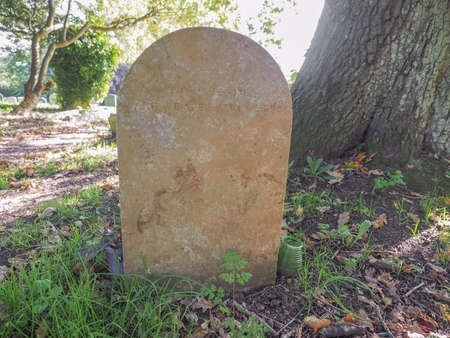 arden: TANWORTH IN ARDEN, UK - SEPTEMBER 25, 2015: Grave of English musician Nick Drake in the churchyard of St Mary Magdalene church