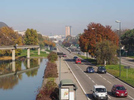 italia: TURIN, ITALY - NOVEMBER 07, 2015: Corso Unita d Italia boulevard