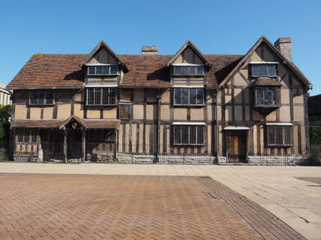 william shakespeare: William Shakespeare birthplace in Stratford Upon Avon, UK
