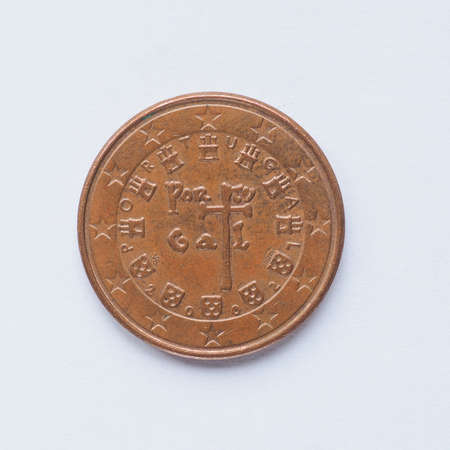cent: Currency of Europe 5 cent coin from Portugal