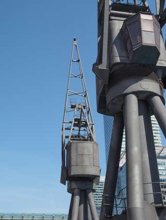docklands: Docklands harbour crane in London, UK