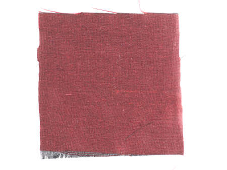 swatch: Maroon fabric swatch over white background