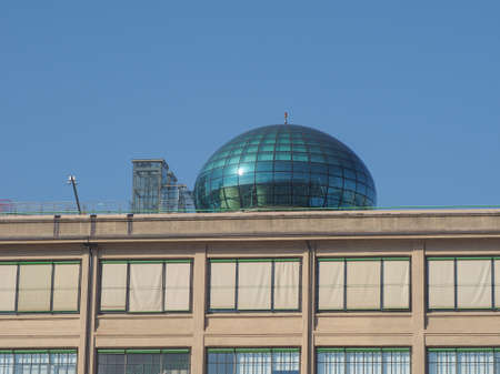 conference centre: TURIN, ITALY - NOVEMBER 07, 2015: Roof meeting room know as La Bolla meaning The Bubble at Lingotto conference centre designed by Renzo Piano in former Fiat car factory Editorial