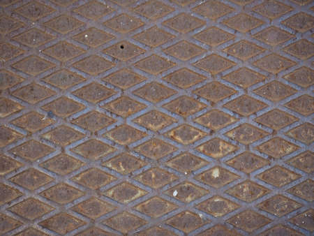diamond plate: Rusted steel diamond plate useful as a background Stock Photo