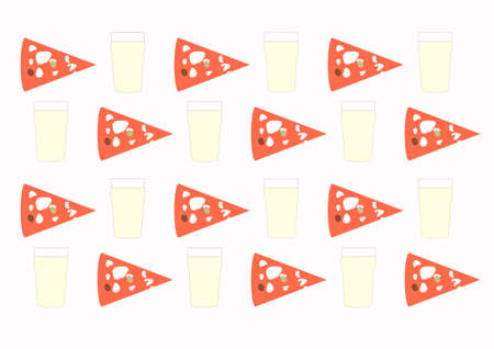 beer pint: Background with beer pint and pizza slice