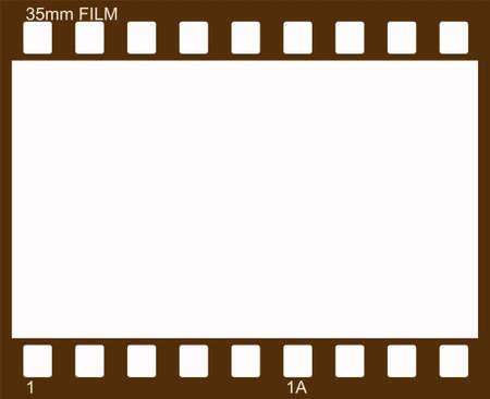 35 mm: Vector illustration of vintage photographic 35 mm film sheet