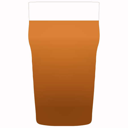 pint: Illustration of a pint of stout beer