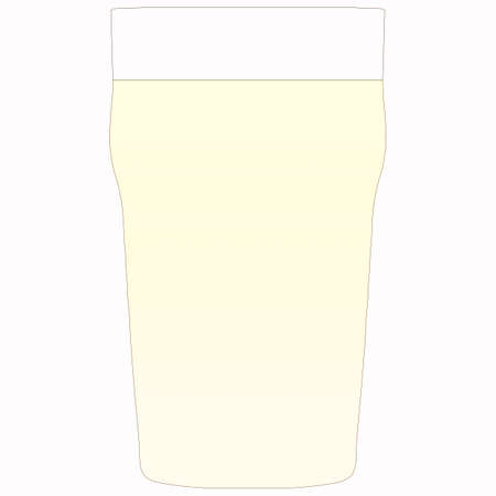 pint: Illustration of a pint of lager beer