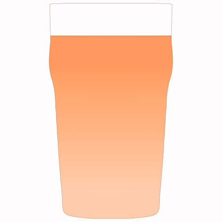 pint: Illustration of a pint of bitter beer