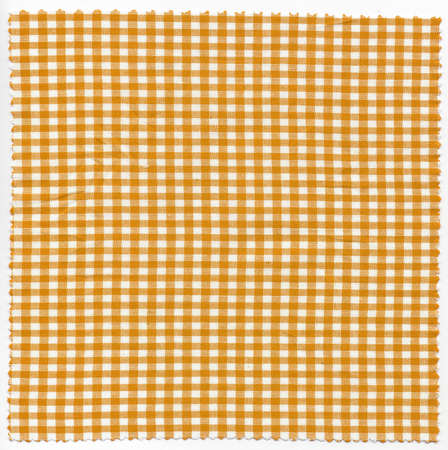 checker: Orange checker fabric cloth useful as a background