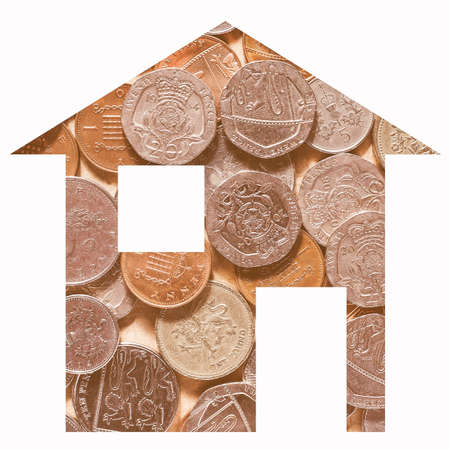 Pounds house 2d model illustration isolated over white
