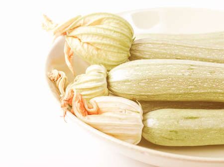 courgettes: Vintage looking Detail of courgettes or zucchini vegetable food