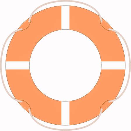 buoy: Life buoy isolated over a white background