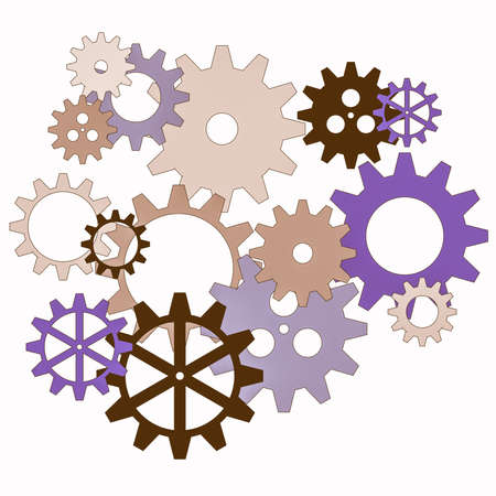 industrial machine: Clockworks gear parts in an industrial machine