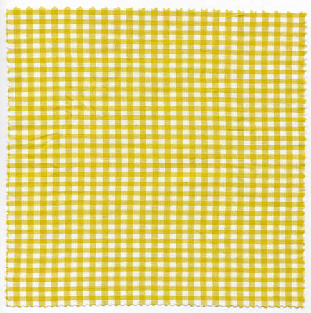 checker: Yellow checker fabric cloth useful as a background Stock Photo