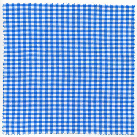 checker: Blue checker fabric cloth useful as a background Stock Photo