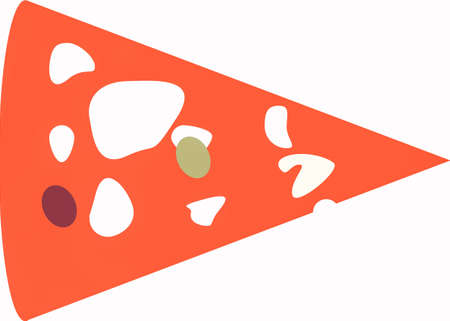 margarita: Vector illustration of a slice of pizza margarita