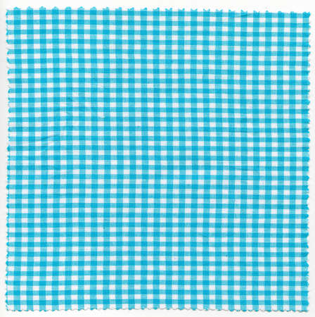 checker: Cyan checker fabric cloth useful as a background