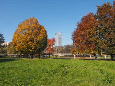 giardino: Giardino Corpo Italiano di Liberazione park in Turin, Italy Stock Photo