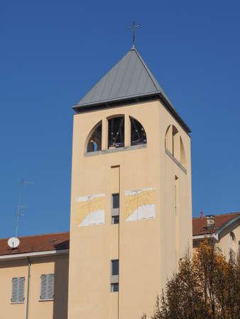monica: Steeple of Santa Monica parish church in Turin, Italy