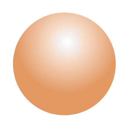isolated over white: Illustration of metallic sphere isolated over white - Bronze Stock Photo