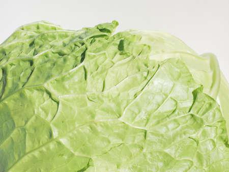 brassica: Green cabbage (Brassica oleracea) vegetables vegetarian food Stock Photo