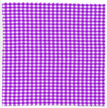 checker: Purple checker fabric cloth useful as a background Stock Photo