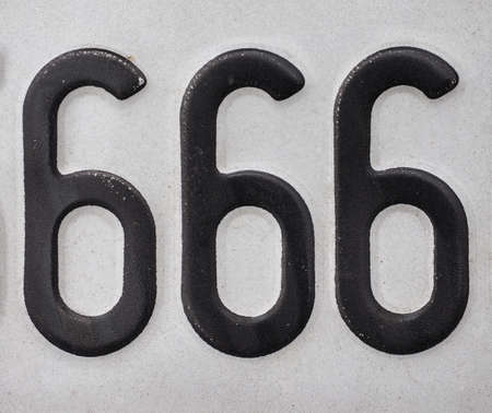 new testament: Number 666 is known as the number of the beast, meaning devil, from chapter 13 of the Book of Revelation, in the New Testament in the Bible