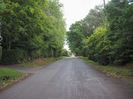 arden: Road in the English countryside in Tanworth in Arden Warwickshire, UK
