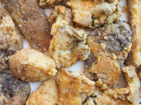 porcini: Fried porcini mushrooms in a dish Stock Photo