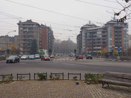 the royal park: TURIN, ITALY - DECEMBER 07, 2015: View of Regio Parco (meaning Royal Park) quarter in winter Editorial