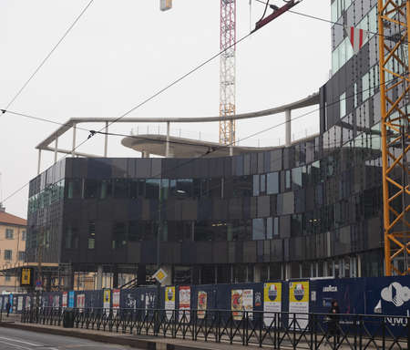 the royal park: TURIN, ITALY - DECEMBER 07, 2015: The new Lavazza headquarters under construction in Regio Parco (meaning Royal Park) quarter in Turin. Lavazza is a worldwide famous Italian coffee company.