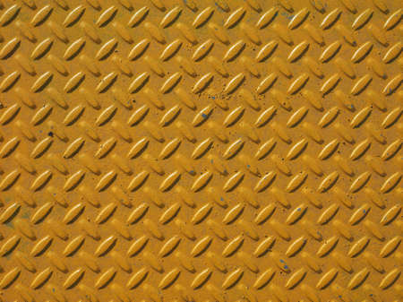 diamond plate: Yellow steel diamond plate useful as a background