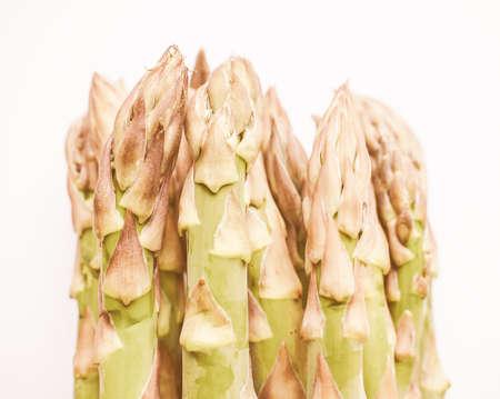 officinalis: Vintage looking Asparagus officinalis aka asparagus vegetables