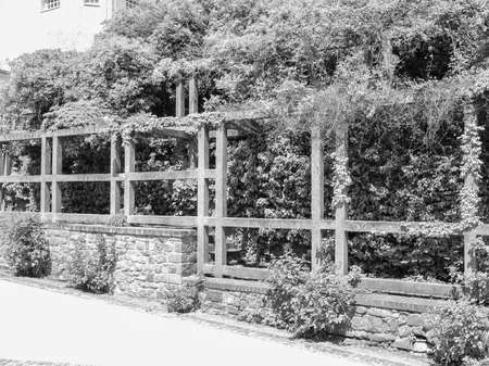 ludwig: Ernst Ludwig Haus at Kuenstler Kolonie artists colony in Darmstadt Germany in black and white