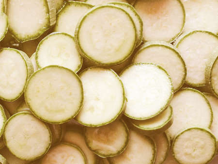 Vintage looking Detail of courgettes or zucchini vegetable food - useful as a background